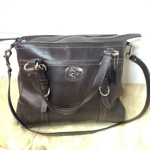 Coach F14015 Chelsea briefcase tote satchel brown